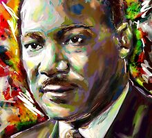 Martin Luther King Art by rockchromatic