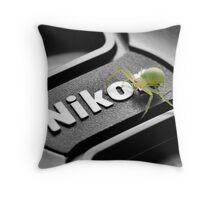 No, I'M the next Nikon Model Throw Pillow