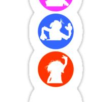 Crazy Silhouettes Sticker