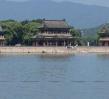 Chinese Garden and Lake Scenery Sticker