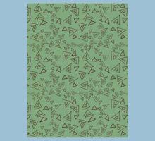 maroon triangles Baby Tee