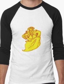 Bullfighter Matador Bullfighting Etching Men's Baseball ¾ T-Shirt