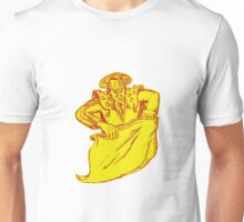 Bullfighter Matador Bullfighting Etching Unisex T-Shirt