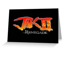 Jak II Renegade Greeting Card