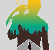 The Walking Dead - Daryl Silhouette (Rick On The Road) by TylerMellark