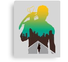 The Walking Dead - Daryl Silhouette (Rick On The Road) Canvas Print