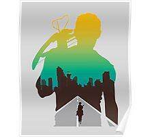 The Walking Dead - Daryl Silhouette (Rick On The Road) Poster
