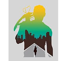 The Walking Dead - Daryl Silhouette (Rick On The Road) Photographic Print