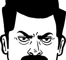Ron Swanson (Without quote)  by Liieszz