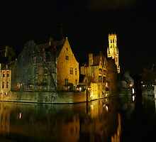 Bruges at night by smedley