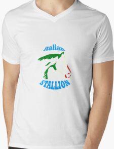 Italian Stallion Mens V-Neck T-Shirt