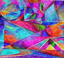 pastel abstract tissue collage 1 by Randy Witte