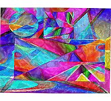 pastel abstract tissue collage 1 Photographic Print