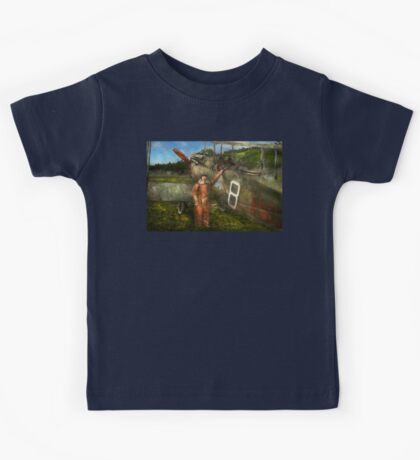 Plane - First One-Stop Flight Across the US - 1921 Kids Tee