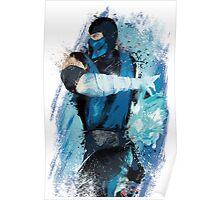 """Sub-Zero"" Splatter Art Poster"