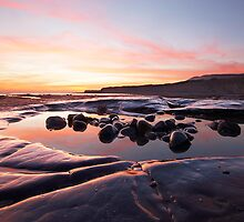 Jurassic Sunset - Kimmeridge Bay by alansmith