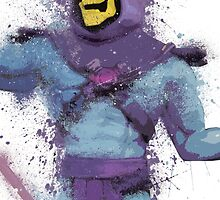 """""""Skeletor"""" Splatter Art by KYCollectibles"""