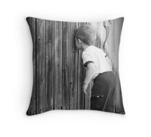 Little Peeping Tom Throw Pillow