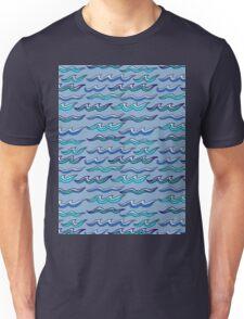 scribbled waves Unisex T-Shirt