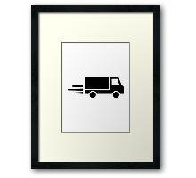 Fast truck Framed Print