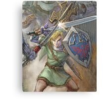 The Legend of Zelda - Link Fighting Canvas Print