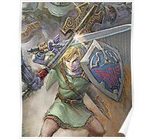 The Legend of Zelda - Link Fighting Poster