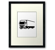 Truck lorry Framed Print