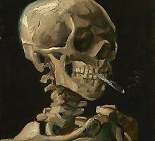 Skull With Cigarette by Vincent van Gogh by Adam Asar