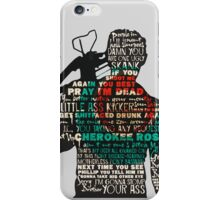 The Walking Dead - Daryl Silhouette Quotes iPhone Case/Skin