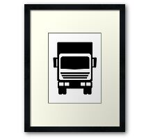 Truck icon Framed Print