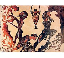 Slaves working in a mine. Ancient Greece. Photographic Print