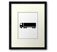 Truck symbol Framed Print