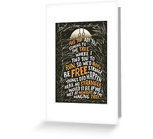 Hunger Games - The Hanging Tree Song Greeting Card