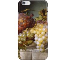 Still life with grapes in a porcelain dish (c. 1850 Austria) by Colnaghi iPhone Case/Skin