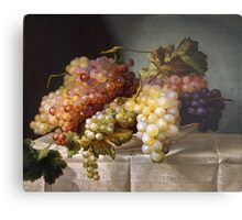 Still life with grapes in a porcelain dish (c. 1850 Austria) by Colnaghi Metal Print