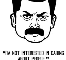 Ron Swanson with quote 4 by Liieszz
