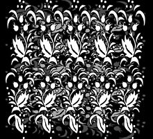 Floral Multi Layer Pattern - Monochrome by Ra12
