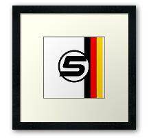 Vettel 5 - Helmet design Framed Print