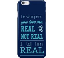 Hunger Games - Real or Not Real? (Quote) iPhone Case/Skin