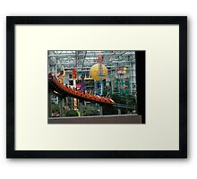 Mall of American ~ Nickelodeon Universe rollercoaster Framed Print