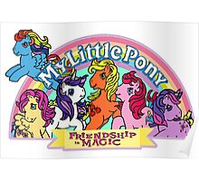 Vintage friendship is magic. Poster