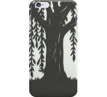 Print of handcut willow tree papercutting iPhone Case/Skin