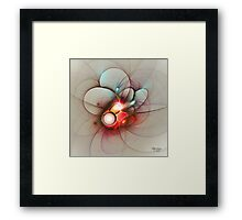 'Light Flame Abstract 036' Framed Print