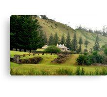 Norfolk Island towards Quality Row Canvas Print