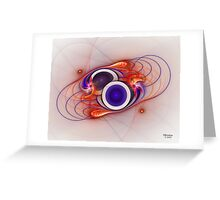 'Light Flame Abstract 056' Greeting Card