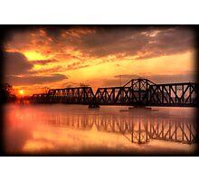 Bridge at Sunset Photographic Print