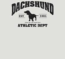 Dachshund Athletic Dept Womens Fitted T-Shirt