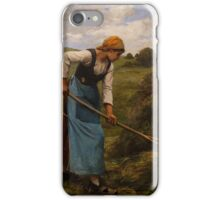 The Harvester by Julien Dupre, c. 1880-1881 iPhone Case/Skin
