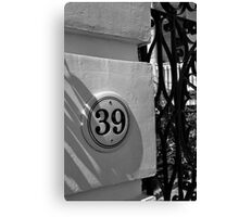 Charleston Address Canvas Print