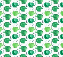 thousands of little green elephants by Serenita